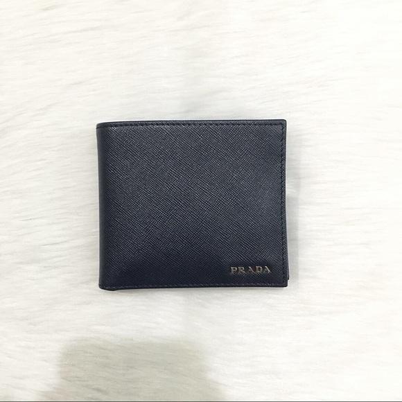 2d8ad2af Authentic Prada Saffiano Bi-fold Wallet (Mint)